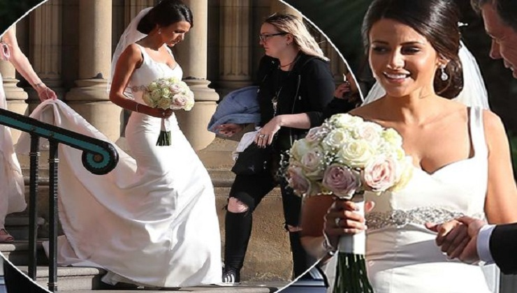 Michelle Keegan wows in a Wedding Dress as she shoots BBC drama in Manchester