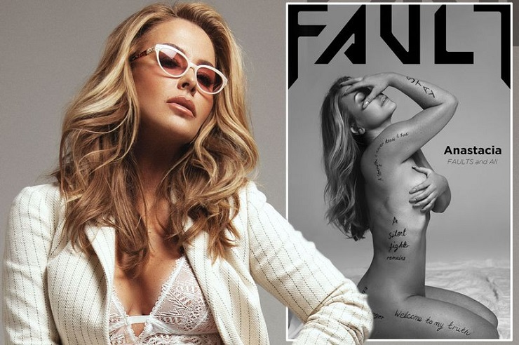 Anastacia reveals mastectomy scars for the first time for intimate cover shoot