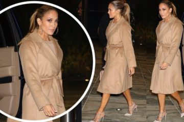 Jennifer Lopez keeps it simple in all-brown outfit while heading into recording studio in New York