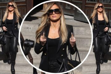 Jennifer Lopez defiantly flips the bird while filming Courthouse Scene on the NYC set of Hustlers